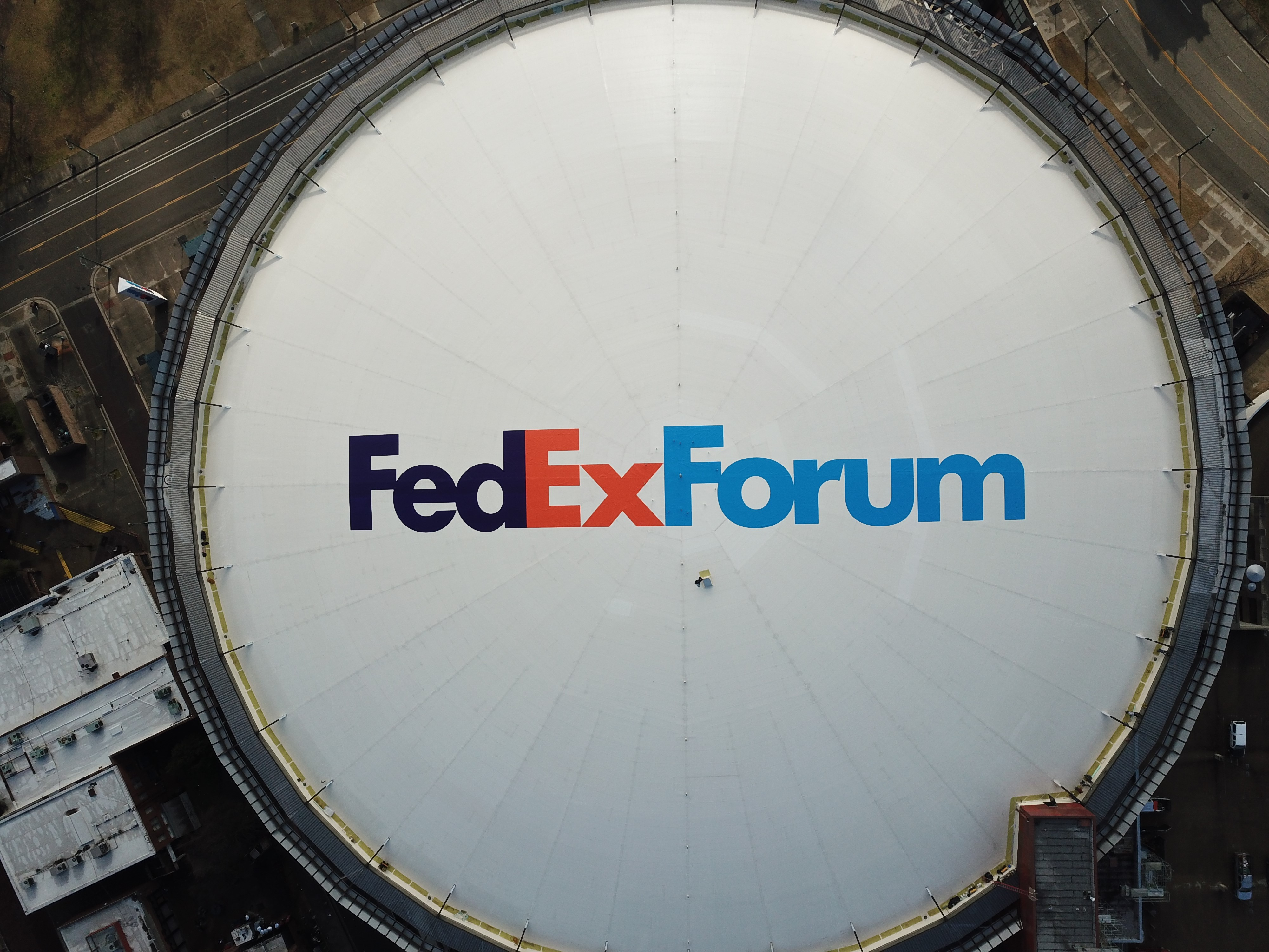 FedExForum Roof Replacement Project Reaches Substantial Completion